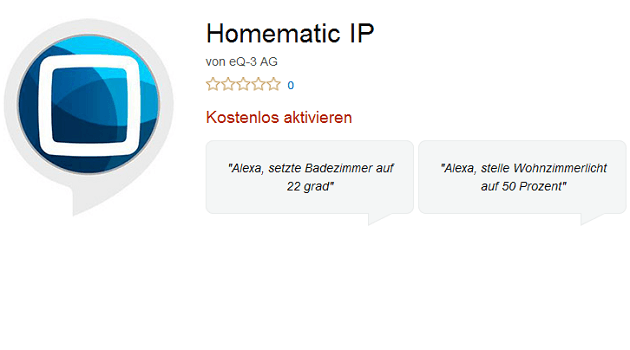 Homematic Alexa